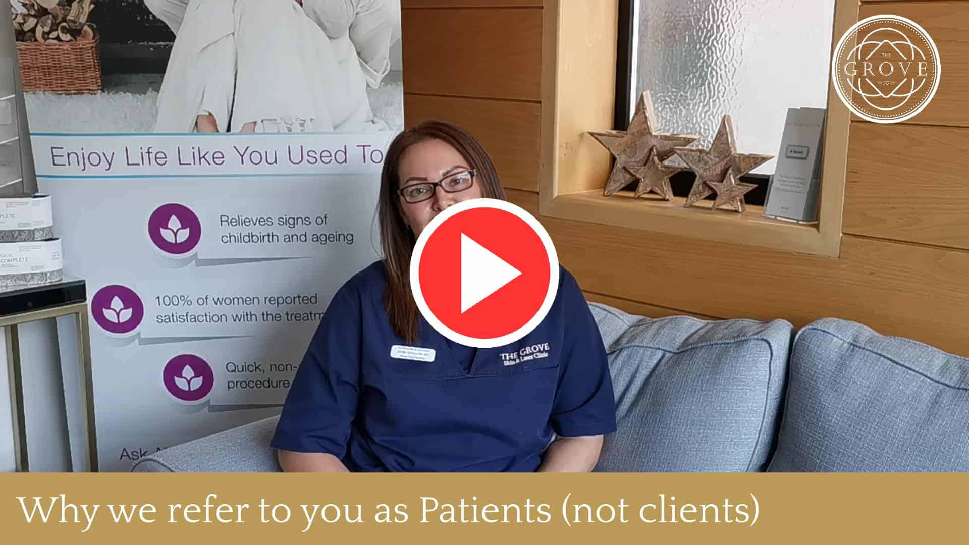 Why we call you Patients and not Clients